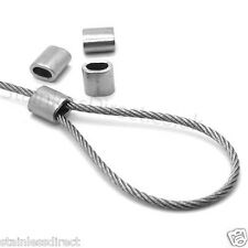 4 x 4.0mm Stainless Steel Wire Rope Ferrule Crimps AISI 316 - A4 Grade