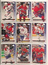 1995-96 Leaf Montreal Canadiens Team Set (12) Plus 2 Inserts Turgeon & Savage