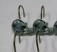 NFL Dallas Cowboys Football Helmet Acrylic Shower Curtain 8 Hooks VINTAGE