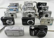 Mixed Lot of 14 Canon Powershot A, S, SX for Parts or Repair