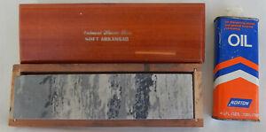 Natural Hones Inc. Soft Arkansas Sharpening Stone W/Norton Oil