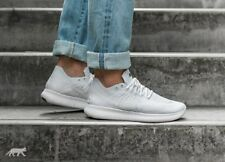 NIKE FREE RN FLYKNIT 2017 Running Trainers Run Gym Casual - UK 11 (EUR 46) White