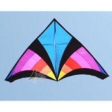 NEW 2.8m Stunt Rainbow Triangle /Delta Power Kite Outdoor fun Sports Toys