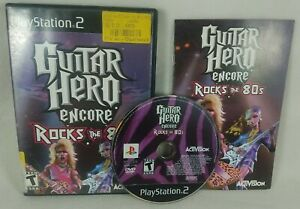 2007 Guitar Hero Encore: Rocks the 80s Playstation 2 PS2 Complete Black Label