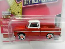 2018 Johnny Lightning *MIJO'S USED CARS* Rally Red 1965 Chevrolet Pickup Truck