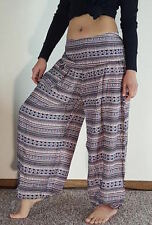 Boho Genie Harem Gypsy Hippy Casual Trousers Tribal Hmong Yoga Baggy Women Pants