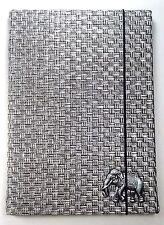 Passport Cover Holder Elephant Aluminium Craft Grid Pattern Cotton Jacquard