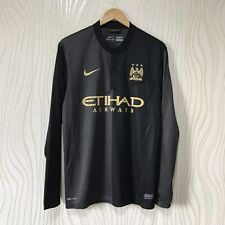 MANCHESTER CITY 2013 2014 AWAY FOOTBALL SHIRT SOCCER JERSEY L/S NIKE 574873-011
