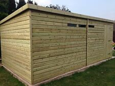 18x10 Ultimate 19mm Heavy Duty Tanslised Heavy Duty Pent Style Shed/security Win