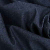 "14oz HEAVYWEIGHT Dark Indigo DENIM 100% Cotton Fabric Jeans Furnishing 59"" Wide"