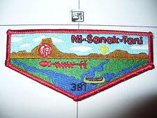 OA Ni Sanak Tani Lodge 381,S-2, 1995 Standard Flap, MGM Chief,Gateway Council,WI
