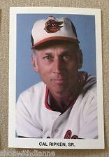 Cal Ripken Sr Team Issued Baltimore Orioles Vintage Postcard Photo
