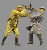 █ 1/35 Resin WWII Soviet Soldier & Rebel Unpainted Unassembled BL576