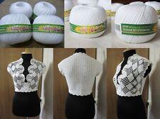 100% Mercerized Cotton Yarn Thread Crochet Lace Hand Knitting Art Craft 4skn