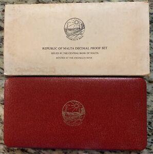 1978 FRANKLIN MINT REPUBLIC OF MALTA DECIMAL PROOF SET w/COA Complete