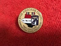 US ARMY 18TH AIRBORNE CORPS IRAQI FREEDOM HAT PIN