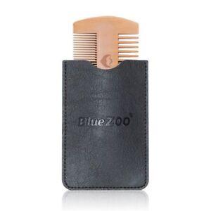 Beard Comb Wood Anti Static Wooden Pocket Hair Care Brush Trim Facial Face Fine