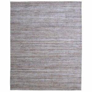 Handmade Beige Indoor/Outdoor Area Rug, Solid Pattern, Thick Pile
