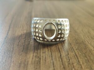 Silver Men Engagement Heavy Ring Setting 8x10 mm Oval Semi Mount ring setting