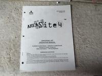 KIT AREA 51 SITE 4 ATARI  arcade game owners manual