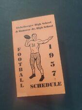 Vntg 1957 Hanover Eichelberger High School Football Schedule