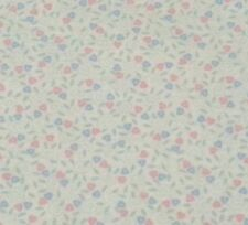 Calico Print BTY from Closed Quilt Shop Pink & Blue Hearts w/ Aqua on Ivory