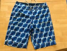 TOMMY BAHAMA Relax Men's Swim Trunks Surf Board Shorts Size 32 Blue Pockets GUC