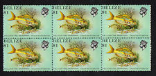 BELIZE : 1984 Coral Reef Fish $1 block of 6 MNH