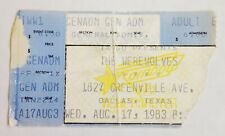 The Werewolves Ticket Stub August 17, 1983 1827 Greenville Ave Dallas Tx