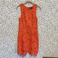 NEW ASTR The Label Coral Floral Lace Sheath Dress Zipper Back Size Medium M