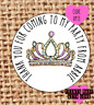 Princess party stickers x 24  /  favours / UP13 / sweets cone / tiara / crown