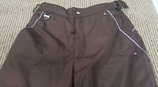P250 Protection Systems Ski Snow Pants Brown Adjustable Waist Youth Girl 7-8