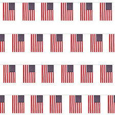 USA America Bunting 10M / 33FT 20 Flags Large Stars and Stripes 4th July Party