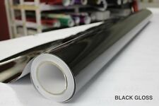 Black Gloss Vinyl 5ft x 45ft New Bubble-Free Wrap for Car Bike Boat Trailer