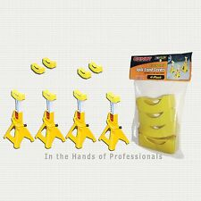 ERNST 964 SET OF 4 YELLOW JACK STAND PADS COVERS COVER >NEW