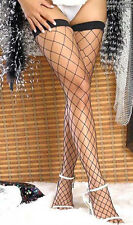 BLACK NET STOCKINGS Thigh High Fence SEXY PANTYHOSE Fishnet One size US 7905-2