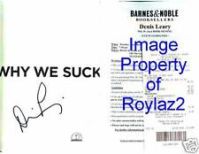 RESCUE ME DENIS LEARY SIGNED WHY WE SUCK 1/1 HC/DJ