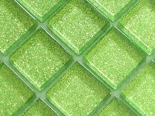 Sample Gliter Green Glass Mosaic Tile Bathroom , Wetroom , Kitchen etc