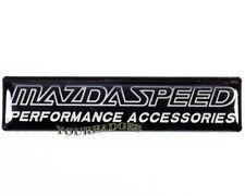 Nuevo Aluminio Cepillado Mazdaspeed Accesorios de rendimiento insignia de coche Mazda
