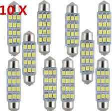 10PCS 41mm-12SMD-3528 LED Car Interior Festoon Dome Bulb Lamp Light 12V White F9