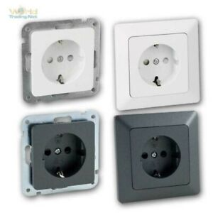 Milos Protective Contact Socket Anthracite With / Without Frame,Bulk Pack,Flush