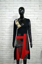 Vestito Slim Donna DESIGUAL Taglia M Abito Dress Tubino Woman Nero Elastico