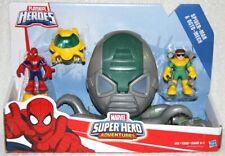 PlaySkool Heroes Marvel Super Heroes Spider Man & Octo Mech Play Set ! *NEW*