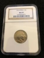 1913  Buffalo Nickel Type 1, MS 65 NGC ABSOLUTE BEAUTY!!! *FREE SHIPPING*