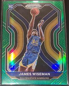 James Wiseman 2020-21 Panini Prizm GREEN PRIZM Parallel Rookie Card (no.268)
