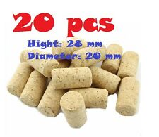 .20 pcs NEW Wine Corks stoppers size 20x28 mm easy punch in most wine bottle
