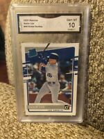 Gavin Lux Rated Rookie 2020 Donruss Graded 10 Los Angeles Dodgers