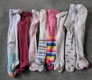 Massive Bundle Baby Girls Tights 12-18 Months X 8 pairs