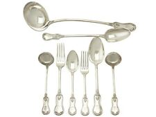 Victorian Scottish Sterling Silver Canteen of Cutlery for Twelve Persons