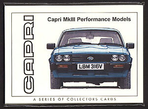 FORD CAPRI MKIII (1978-86) - Original Collectors Cards - Turbo 280 2.8i Zakspeed